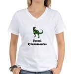 Sexual Tyrannosaurus Women's V-Neck T-Shirt