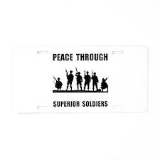 Superior Soldiers Aluminum License Plate