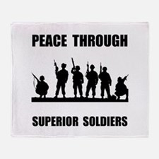 Superior Soldiers Throw Blanket