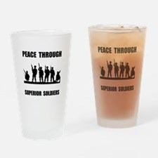 Superior Soldiers Drinking Glass