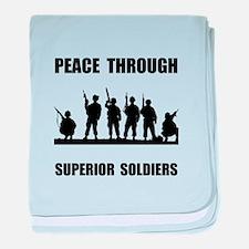 Superior Soldiers baby blanket
