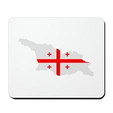 Georgia map flag Mousepad