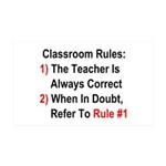 Classroom Rules 35x21 Wall Decal
