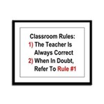 Classroom Rules Framed Panel Print