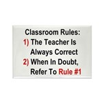 Classroom Rules Rectangle Magnet