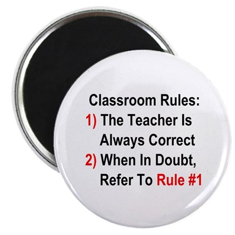Classroom Rules Magnet