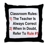Classroom Rules Throw Pillow