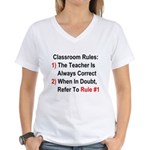 Classroom Rules Women's V-Neck T-Shirt