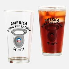 America Down The Latrine in 2013 Drinking Glass