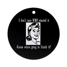 Mommy Rules Ornament (Round)