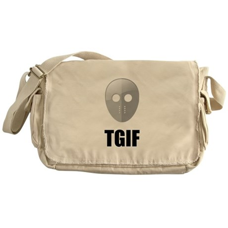 TGIF Jason Hockey Mask Messenger Bag