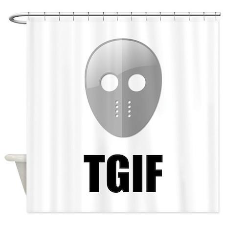 TGIF Jason Hockey Mask Shower Curtain