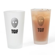 TGIF Jason Hockey Mask Drinking Glass