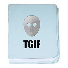 TGIF Jason Hockey Mask baby blanket