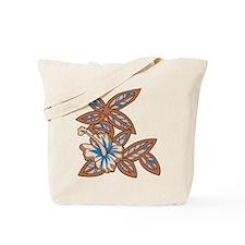 Tiki Floral Art Tote Bag