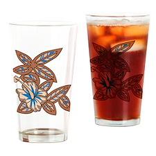 Tiki Floral Art Drinking Glass