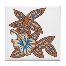 Tiki Floral Art Tile Coaster