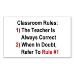 Classroom Rules Sticker (Rectangle)