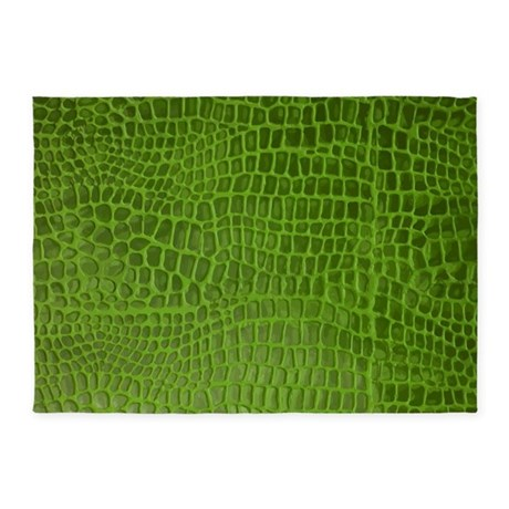 alligator skin 5'x7'area rug by stargazerdesign