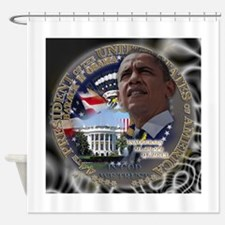 Obama Re-elected Shower Curtain