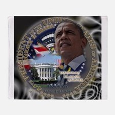 Obama Re-elected Throw Blanket