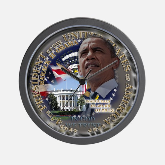 Obama Re-elected Wall Clock