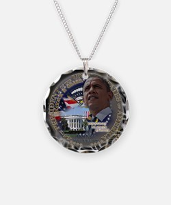 Obama Re-elected Necklace