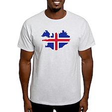 Iceland map flag T-Shirt