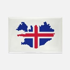 Iceland map flag Rectangle Magnet (10 pack)