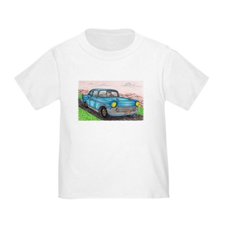 57' Chevy Belair Original Drawing Toddler T-Shirt