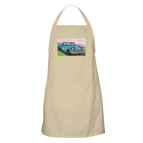57' Chevy Belair Original Drawing Apron