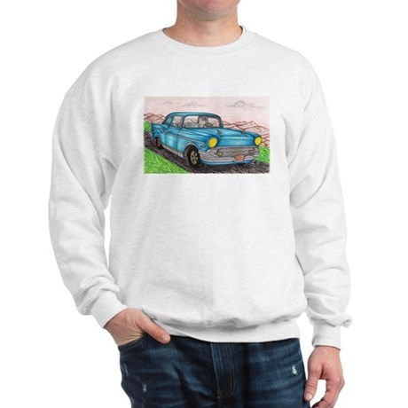 57' Chevy Belair Original Drawing Sweatshirt