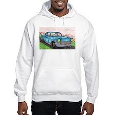 57' Chevy Belair Original Drawing Jumper Hoodie