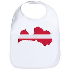 Latvia map flag Bib