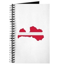 Latvia map flag Journal
