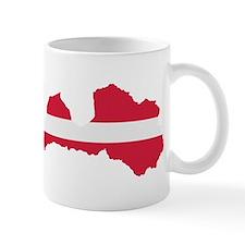 Latvia map flag Mug