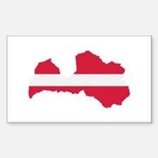 Latvia map flag Decal