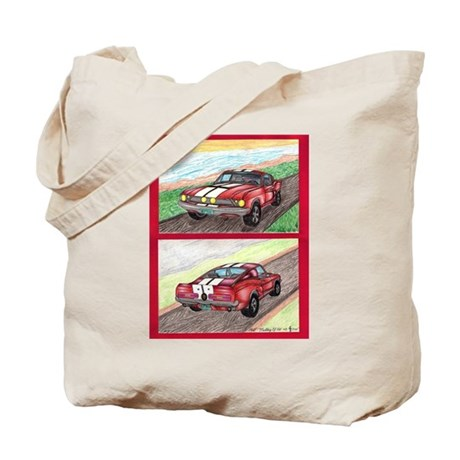 The Classic Mustang GT 500 Original Drawing Tote B