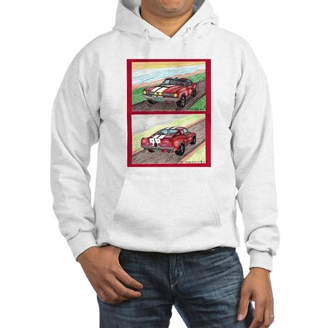 The Classic Mustang GT 500 Original Drawing Hooded