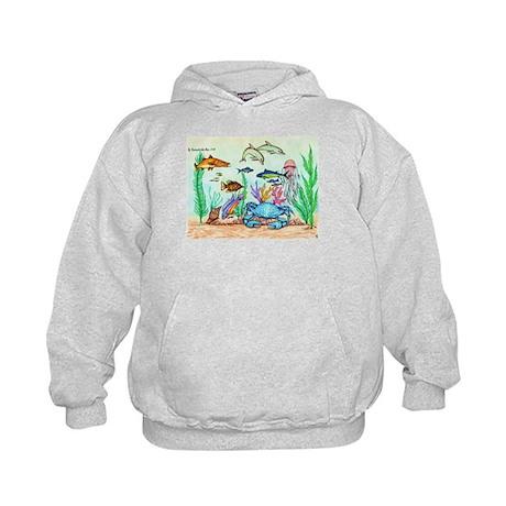 """The """"Beneath The Sea"""", Original Drawing Kids Hoodi"""