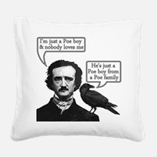 Poe Boy Square Canvas Pillow