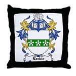 Leckie Coat of Arms Throw Pillow