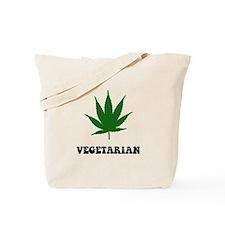 Vegetarian Weed Tote Bag