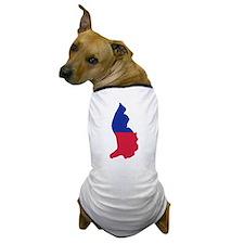 Liechtenstein map flag Dog T-Shirt