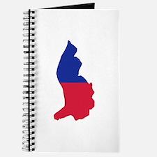 Liechtenstein map flag Journal