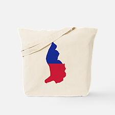Liechtenstein map flag Tote Bag