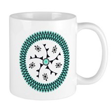 Turquoise Native American Turtle Art Mug