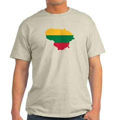 Lithuania map flag Light T-Shirt