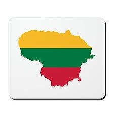 Lithuania map flag Mousepad