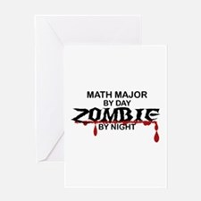 Math Major Zombie Greeting Card